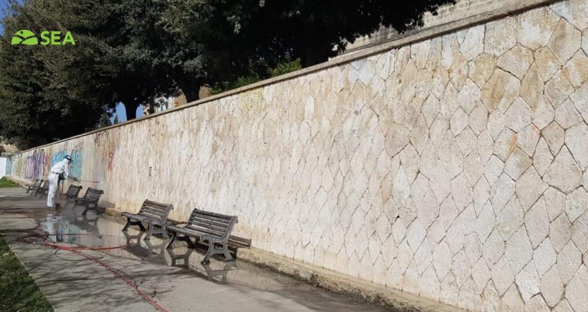 Impatto ambientale zero: SEA in prima linea nella lotta a graffiti e scritte vandaliche